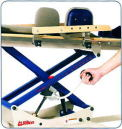 移乗のために簡単にボードを水平にできます。